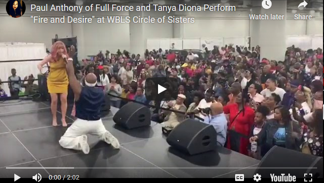 """Paul Anthony of Full Force and Tanya Diona Perform """"Fire and Desire"""""""