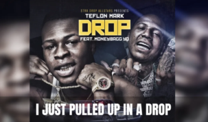 Teflon Mark ft MoneyBagg Yo - Drop Lyric Video Screenshot