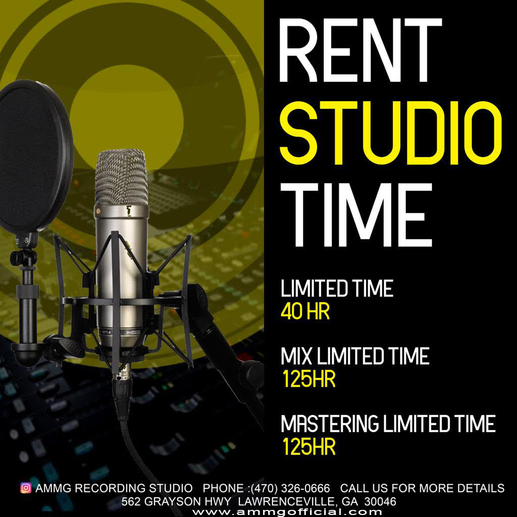 Introducing AMMG Recording Studio located on Lawrenceville, GA!