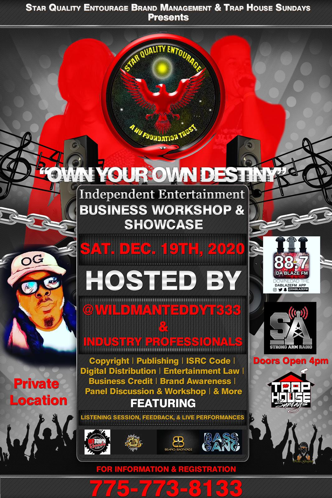"""Own Your Own Destiny"" Independent Business Workshop & Showcase Sat Dec 19 2020"