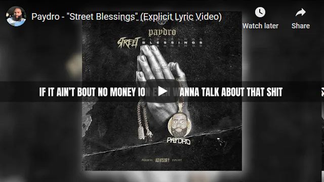 """Paydro """"Street Blessings"""" Lyric Video 
