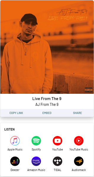 AJ From The 9 – Live From The 9