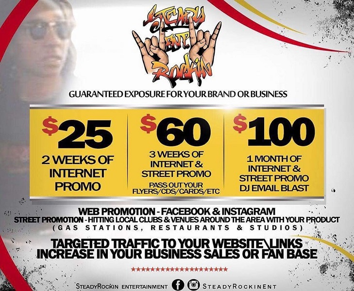 [Ad] SteadyRockin Entertainment internet & street promo services