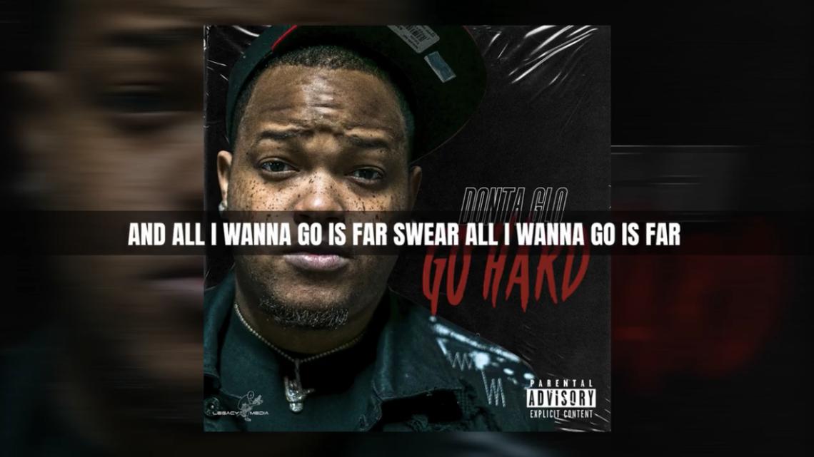 "Donta Glo ""Go Hard"" Lyric Video | @DontaGlo"